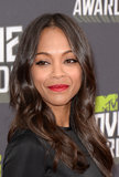 Pictures of Zoe Saldana at 2013 MTV Movie Awards