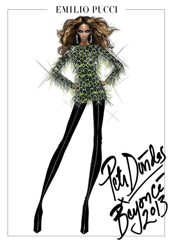 Emilio Pucci for Beyoncé. Photo courtesy of Emilio Pucci.