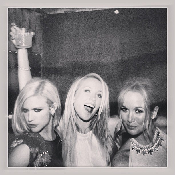 Brittany Snow shared a candid picture from a photo booth at an MTV Movie Awards afterparty.  Source: Instagram user brittsnowhuh