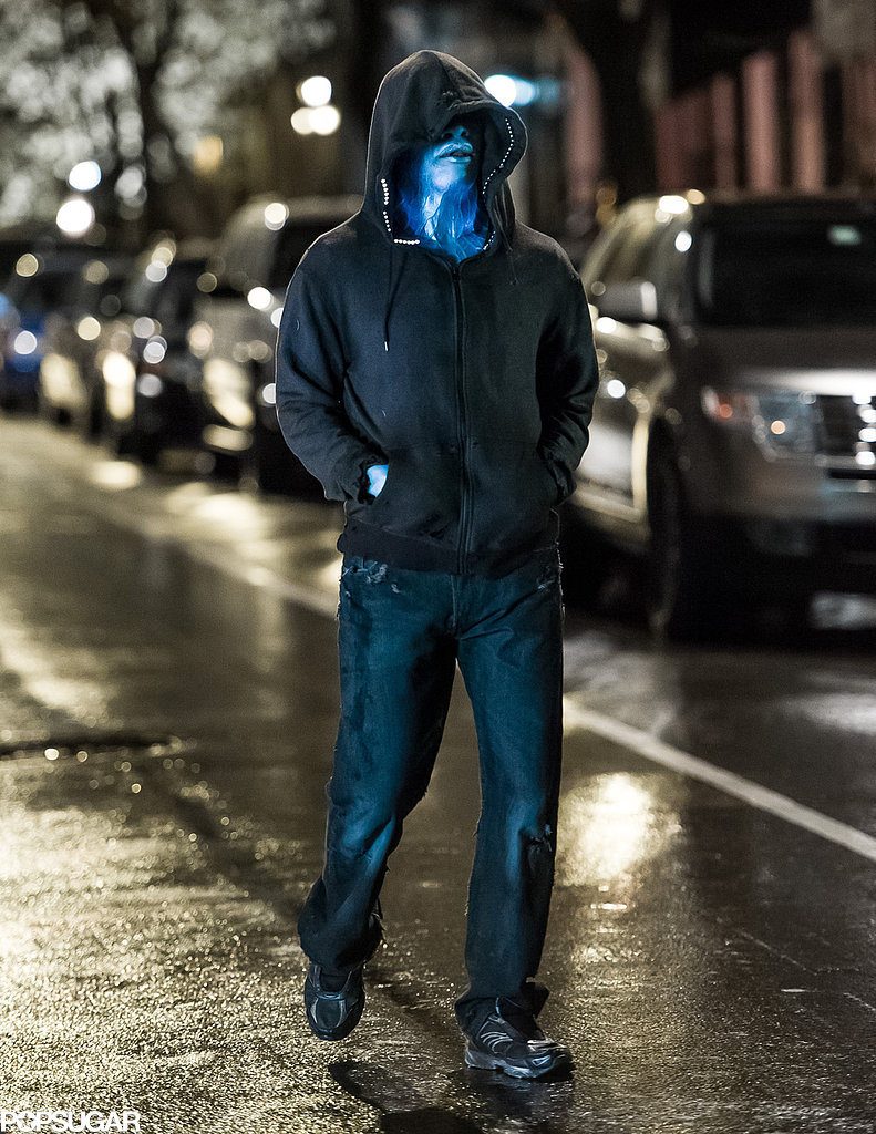 Jamie Foxx on the set of The Amazing Spider-Man 2.