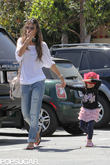 Alessandra Ambrosio Takes Her Little Firefighter Anja on an Errand Run