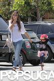 Alessandra Ambrosio Takes Her Little Firefighter Anja on an Errand Run