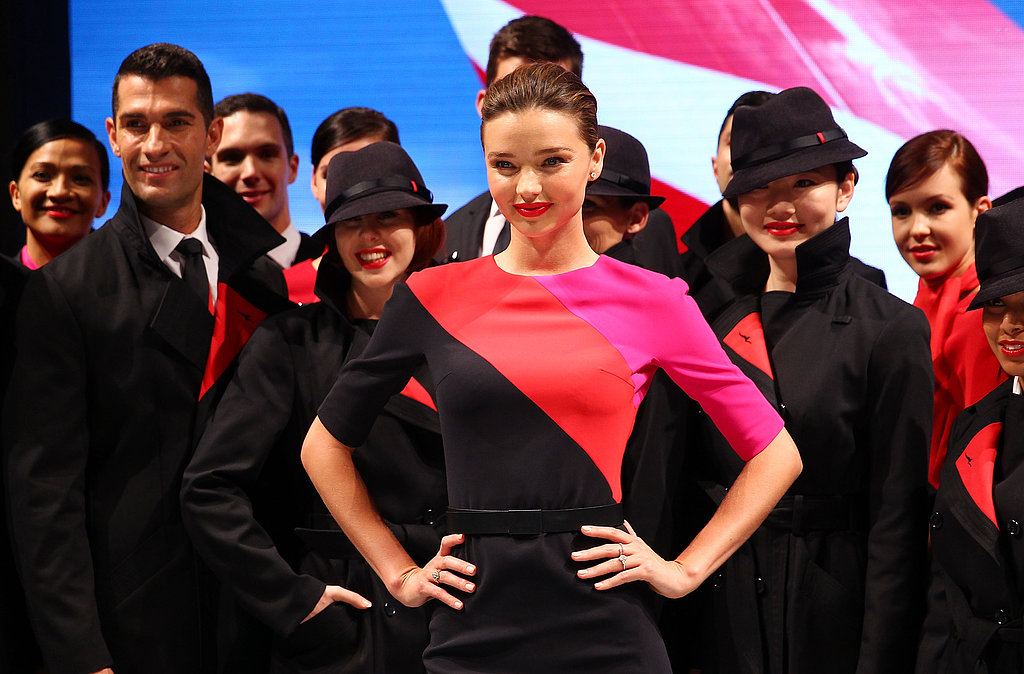 Miranda Kerr Models For Qantas and Confirms Victoria's Secret Shift