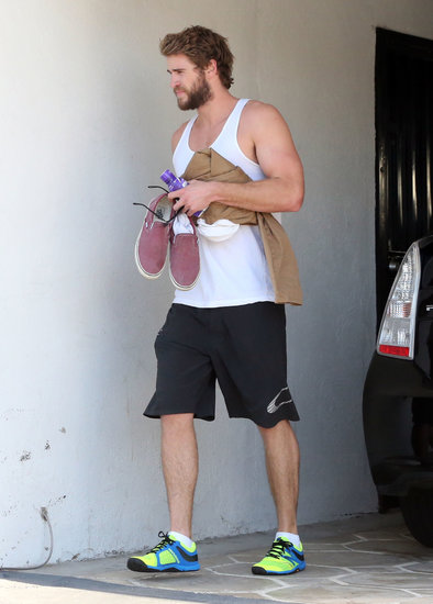 Liam Hemsworth worked out in LA on Monday.