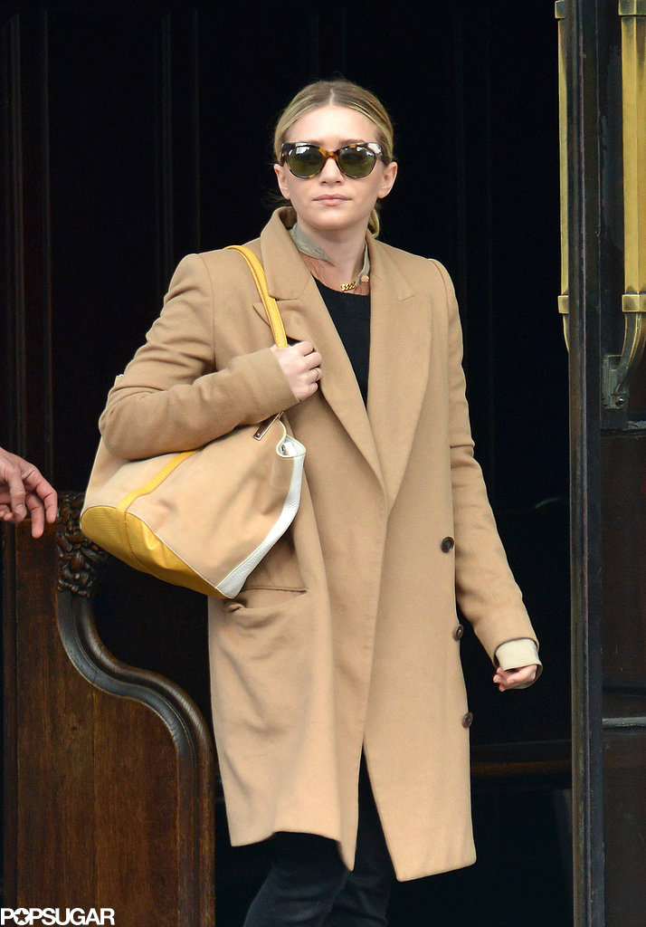 Ashley Olsen left a hotel in NYC on Monday.