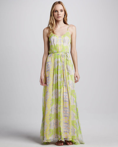 Charlie Jade Braided-Belt Maxi Dress