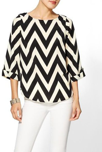 Everly Clothing Chevron Print Blouse