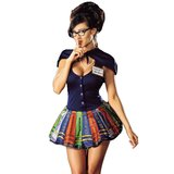 Sexy Halloween costumes can get ridiculous, so it should come as no surprise that this sexy librarian outfit has a capelet and a skirt made of books.