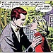 Even comics, like this one from the 1950s, have tackled the librarian romance.
