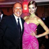 Michael Kors and Constance Jablonski got glammed up for the BCRF Hot Pink Party in NYC. Source: Twitter user Michael Kors