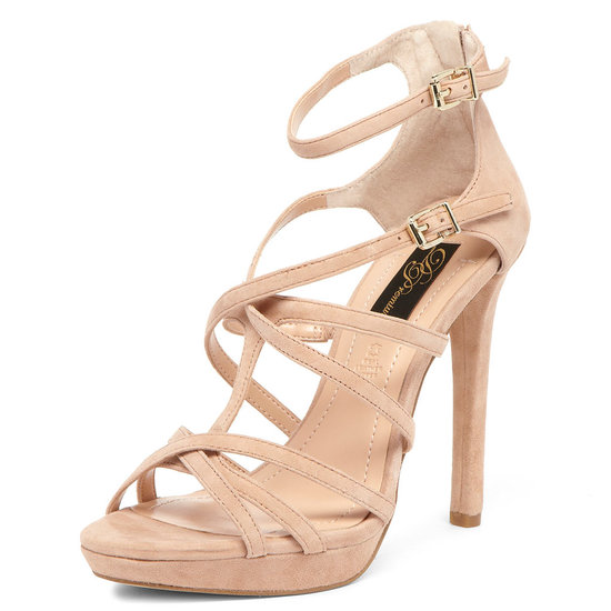 Dorothy Perkins's nude suede strap sandal ($95) is ideal for dressier occasions.
