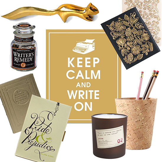 Gifts For Wordsmiths and Aspiring Novelists  If you know any aspiring novelists who need a little nudge to get pen to paper (or fingers to keyboard), these gifts could inspire a future Jane Austen. No matter what kind of writer they are, these novel gift ideas are sure to cure a case of writer's block — check them out now!