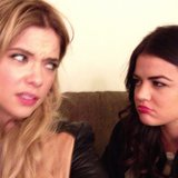 Pretty Little Liars stars Ashley Benson and Lucy Hale looked at each other with disgust. Source: Instagram user itsashbenzo