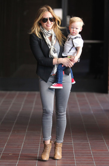 Hilary Duff Runs Around LA With Luca and Celebrates Her Book Release