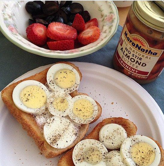 Hard-Boiled Egg on Toast