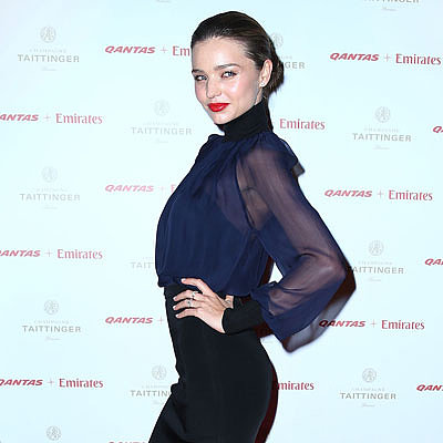 Miranda Kerr, John Travolta, Kelly Preston In Sydney; Qantas