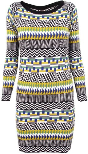 Thomas Sires Fair Isle Sweater Dress