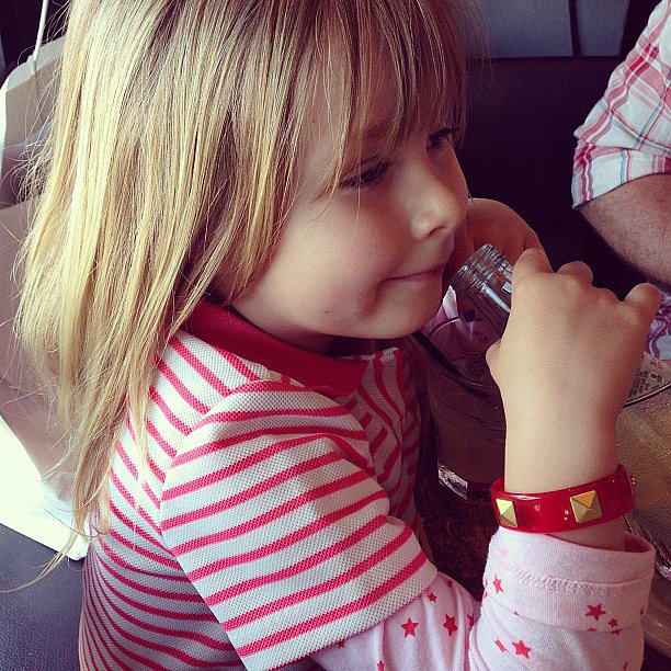 Stella McDermott wore some chic threads after her mama did some vintage shopping. Source: Instagram user torianddean