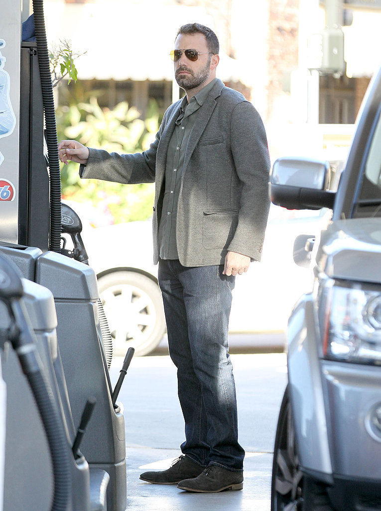 Ben Affleck stopped by a gas station.