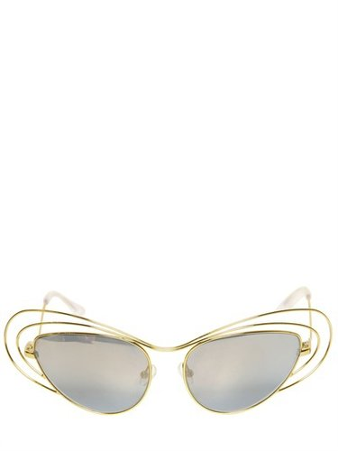 Metal Sunglasses With Mirrored Lenses