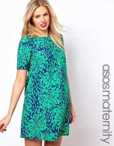 ASOS Maternity Shift Dress in Animal Print