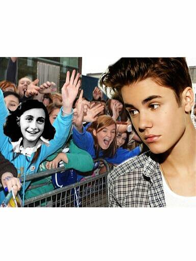 Anne Frank as a Belieber