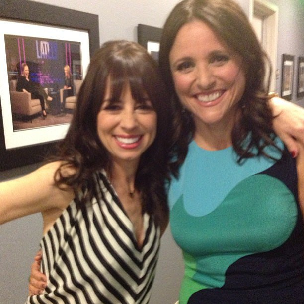 Comedian Natasha Leggero caught up with Julia Louis-Dreyfus on Chelsea Lately. Source: Instagram user natashaleggero