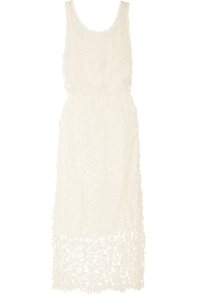 This Alice + Olivia cocktail silhouette ($495) can be just as glam with pretty lace and chiffon details.