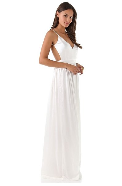 Go a little more glamorous on the beach with a Contrarion gown ($425) that showcases some sexier cutouts.