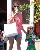 Alessandra Ambrosio and Anja Mazur ate ice cream together in April 2013 in LA.