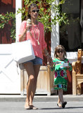 Alessandra Ambrosio and Anja Mazur got ice cream together in LA.