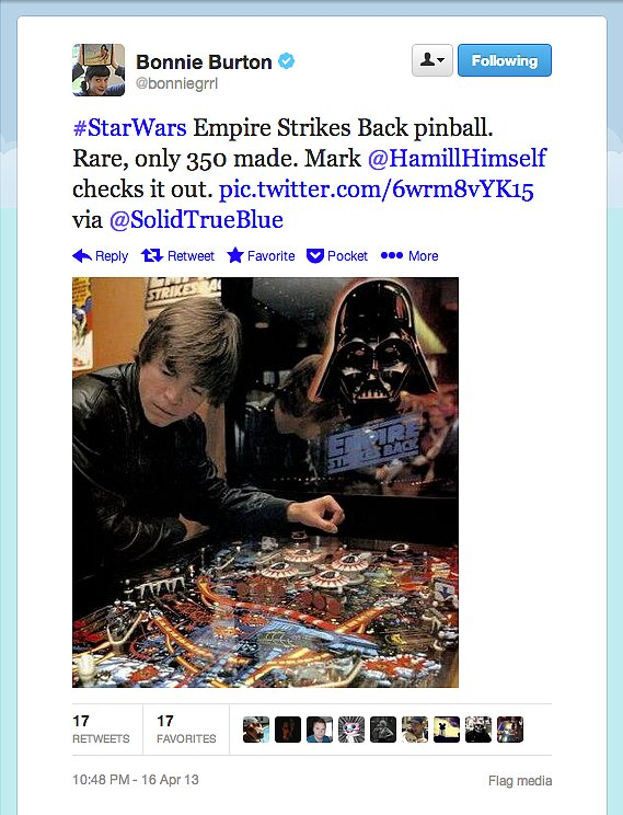 Star Wars web show host Bonnie Burton unearths a superrare Empire Strikes Back pinball machine. Putting this on our dream geek home-furnishing list now.