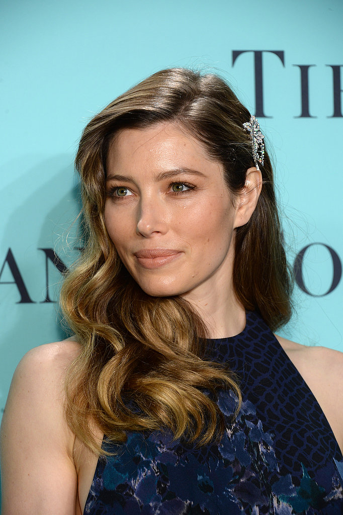 A zoomed-in look at Jessica Biel's Tiffany & Co. diamond currant brooch from the 2013 Blue Book Collection ($115,000).