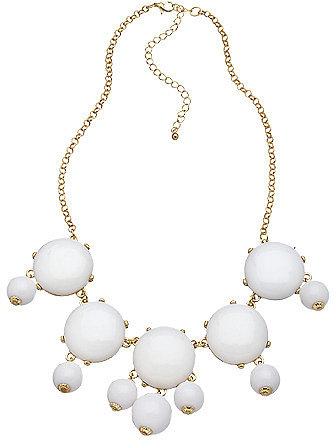 Blu Bijoux Gold and White Single Bubble Necklace