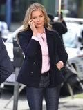 Rebecca Romijn wore semiprofessional gear on the set of the TV series King & Maxwell in Vancouver on Monday.