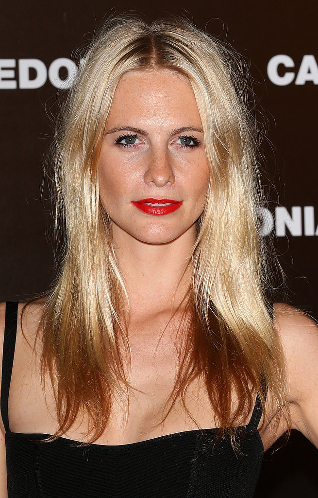 The red carpet is always full of inspiration for semiformal hair and makeup, but this classic red lipstick look on Poppy Delevingne was your top pick for your next after-5 event.
