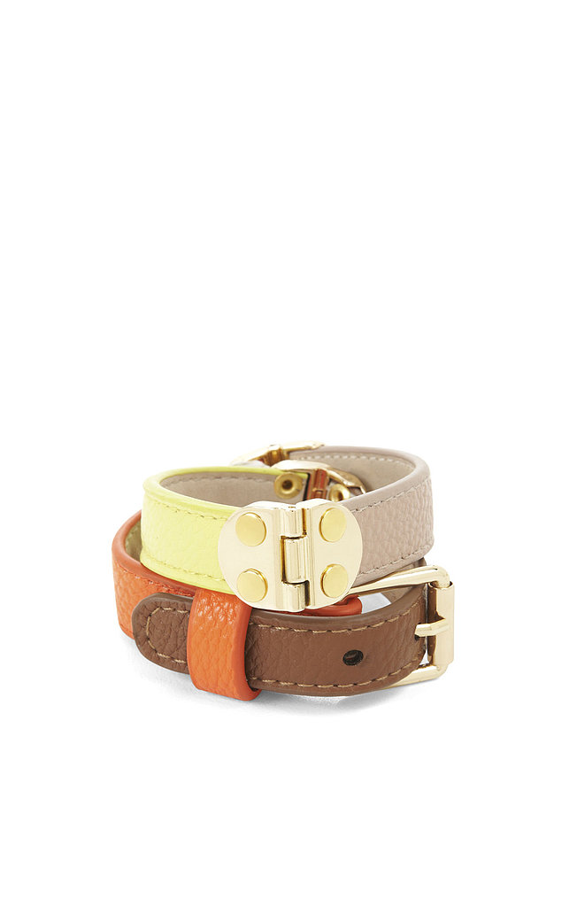 For a cool everyday accessory, we suggest BCBG Max Azria's Hinged Bracelet ($38).