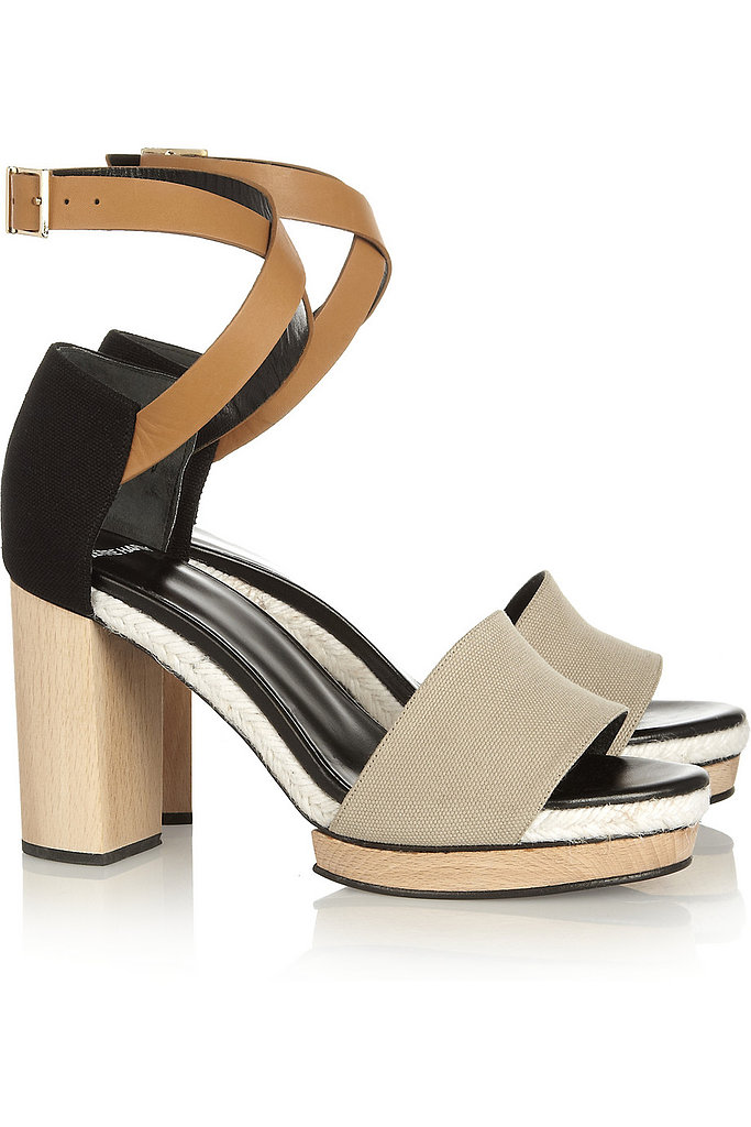 Pierre Hardy's Canvas and Leather Platforms ($595) will look just as sexy with shorts and a tank as they will with your floaty dress for dinner.