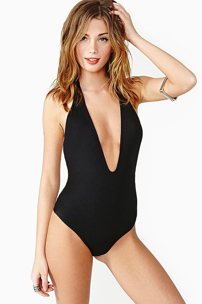 In addition to a romantic printed suit, you should also pack a sexy one-piece, like Nasty Gal's Flamingo Swimsuit ($110). The plunging V-neck is great for hanging by the pool, and you can throw a pair of shorts over it for offshore activities.