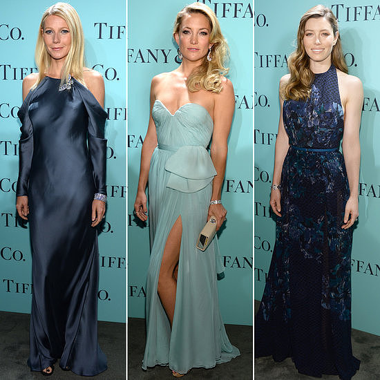 Is there a better color to wear to a Tiffany & Co. party than its signature shade of blue?