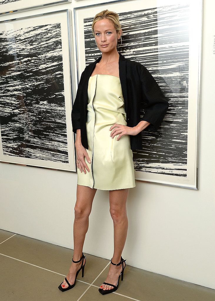 Carolyn Murphy could make just about anyone want a piece of Spring leather in this buttery strapless Calvin Klein dress, which she chose for this week's HRC Marriage For Equality celebration at the Calvin Klein boutique.