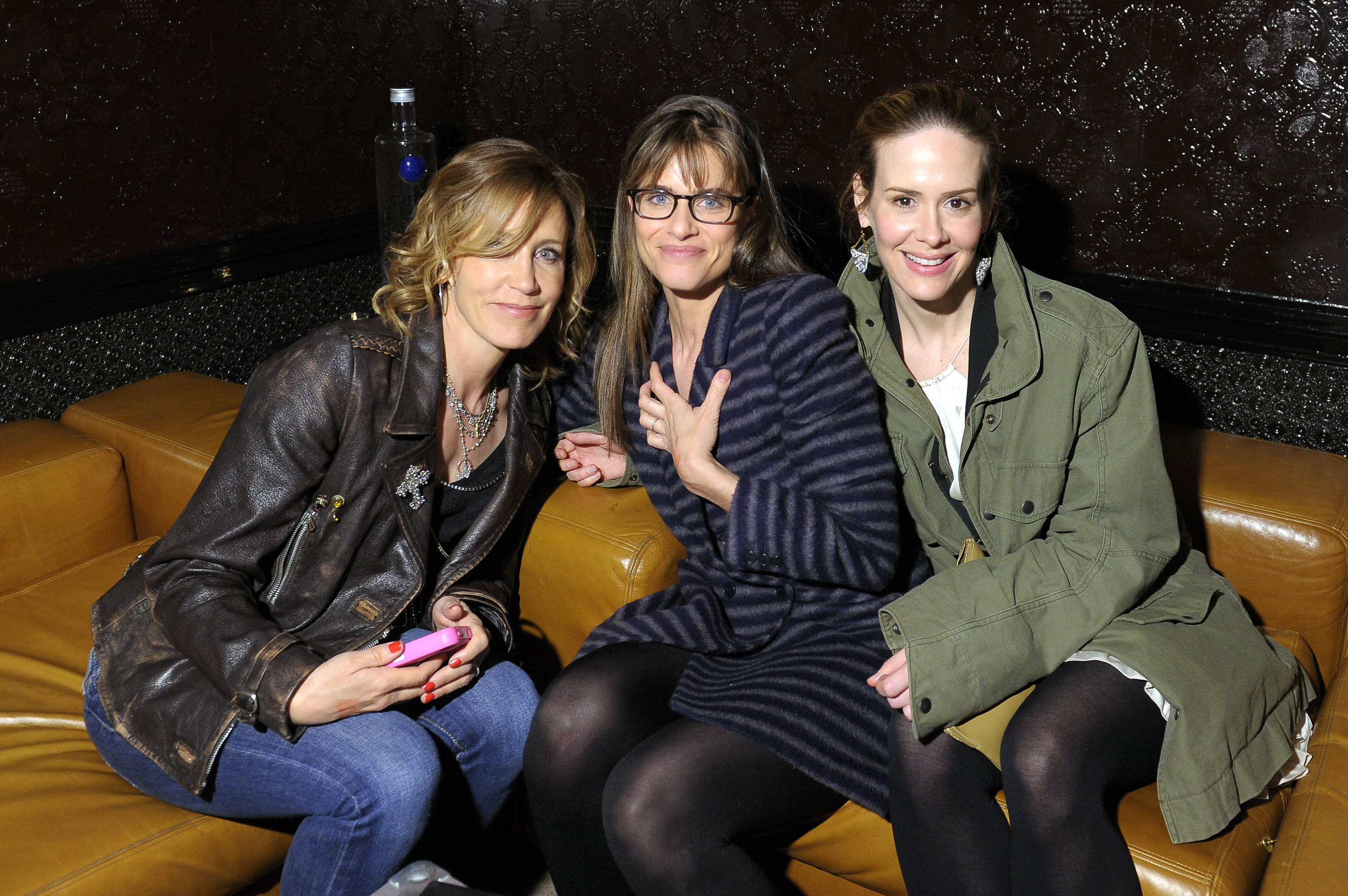 Felicity Huffman, Amanda Peet, and Sarah Paulson hung out at the Trust Me afterparty.