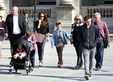Victoria Beckham Visits the Louvre With Her Brood Ahead of David's Big Game