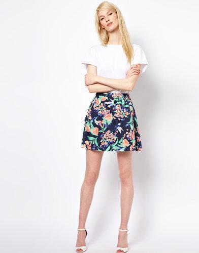 Paul and Joe Sister Bird Print Skirt