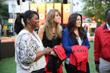 Octavia Spencer helped hand out City Year jackets during the organization's third annual fundraiser party in LA on Saturday.