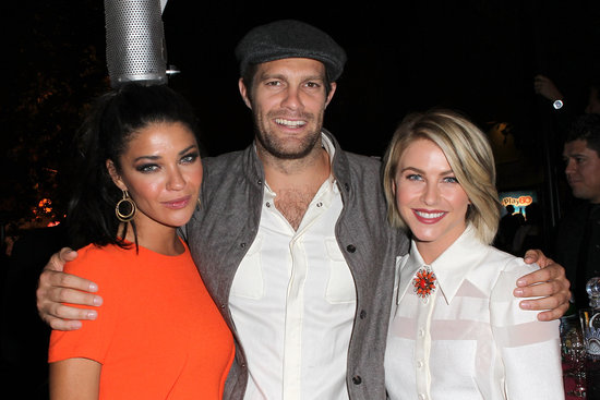 Jessica Szohr, Geoff Stults, and Julianne Hough cuddled up inside the Spring Break: Destination Education fundraiser party in LA.
