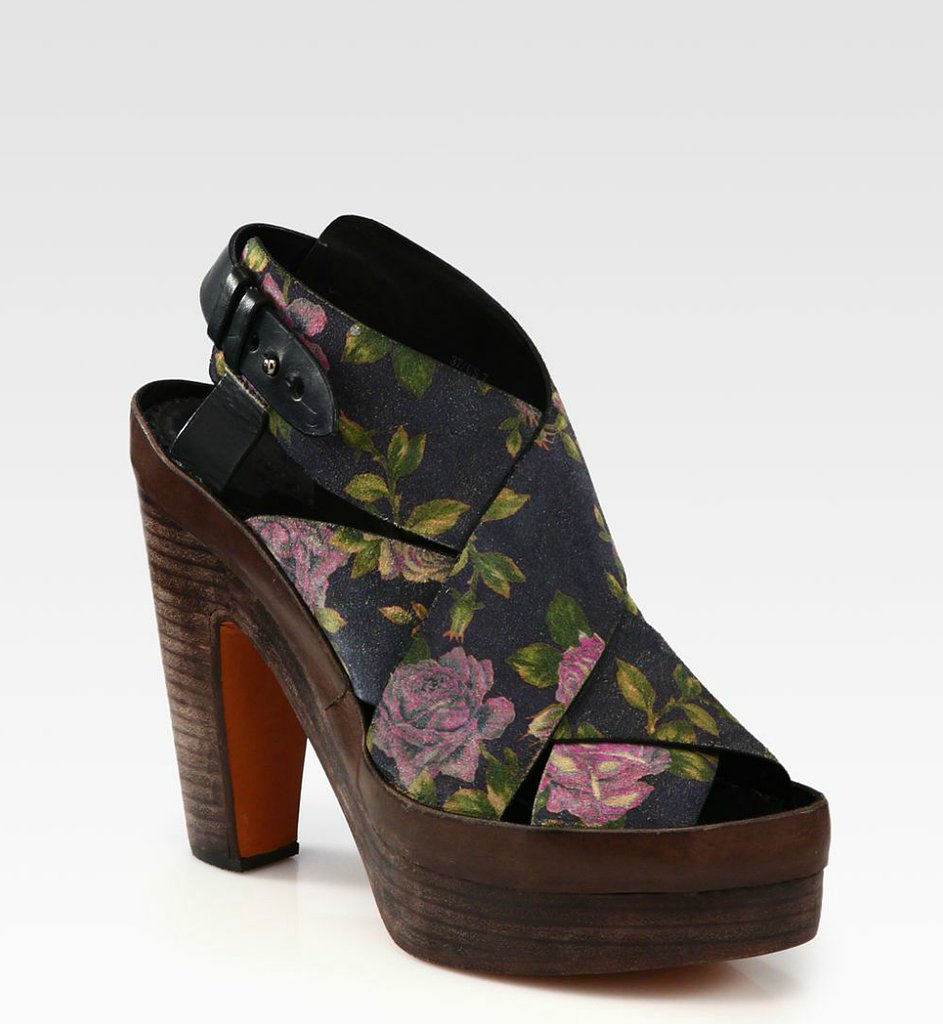 Rag & Bone's Sloane Floral Platform Sandals ($431, originally $575) were made for denim cutoffs and cute rompers.