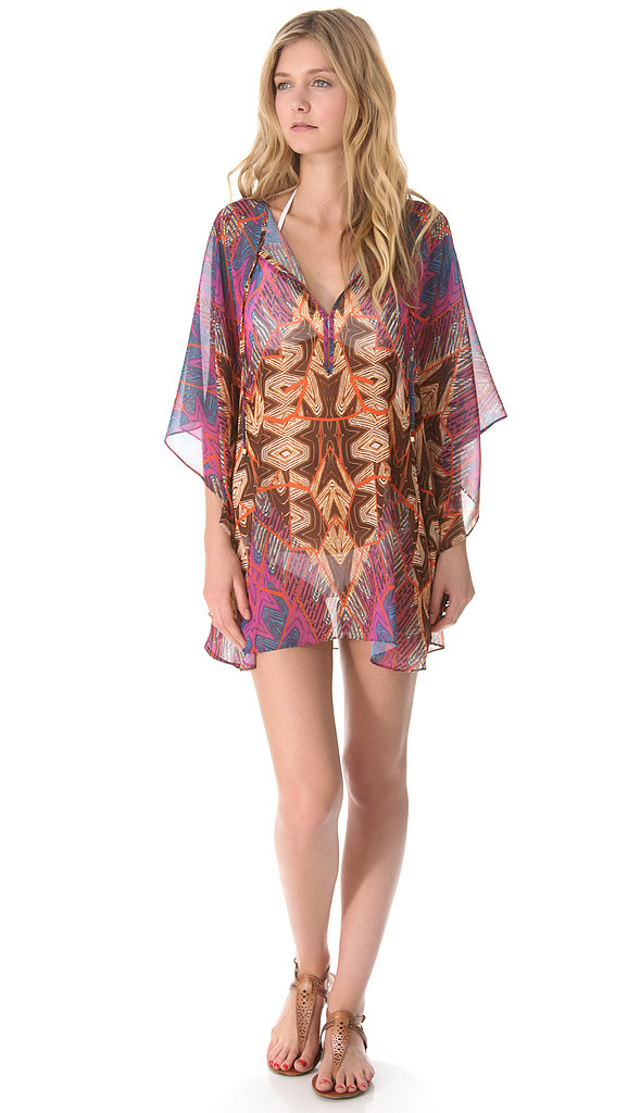 A vivid chiffon beach cover-up like Vix Swimwear's St. Martin Caftan ($134) is ideal for slipping on over your bikini.