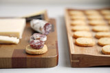Thyme, Black Pepper, and Parmesan Crackers