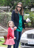 Jennifer Garner and Seraphina Affleck held hands in LA on Monday.